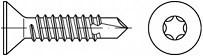 Zápustné vruty do kovu s předvrtáním Torx DIN 7504P Ocel Zinek bílý