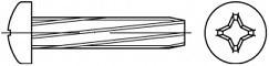Závitořezné šrouby do plechu PH DIN 7516A Ocel Zinek bílý