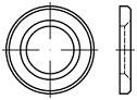 Kruhové podložky pro vysokopevnostní spoje DIN 6916 Ocel Zinek bílý