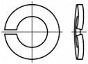 Prohnuté pérové podložky DIN 128A Ocel Bez povrchové úpravy