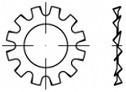 Podložky s vnějším ozubením DIN 6797A Ocel Zinek bílý