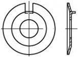 Pojistné podložky s vnějším nosem DIN 432 Ocel Zinek bílý