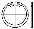 Pojistné kroužky do díry DIN 472 Ocel Bez povrchové úpravy