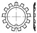 Pojistné MB podložky pro KM matice DIN 5406 Ocel Bez povrchové úpravy