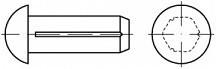 Rýhované hřeby DIN 1476 Ocel Bez povrchové úpravy