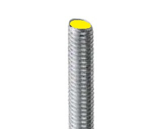 Pevnostní závitové tyče s levým závitem DIN 975 Ocel 8.8 Zinek bílý