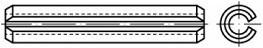 Pružné kolíky DIN 1481 Ocel Bez povrchové úpravy