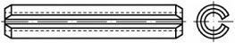 Pružné kolíky DIN 1481 Nerez