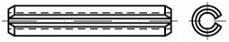 Pružné kolíky pro lehké zatížení DIN 7346 Ocel Bez povrchové úpravy