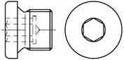 Vypouštěcí šrouby DIN 908 Ocel Zinek bílý