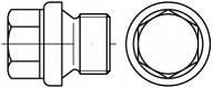 Vypouštěcí šrouby DIN 910 Ocel Zinek bílý