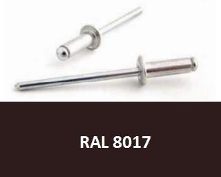 Barevné trhací nýty RAL 8017 Hliník/Ocel