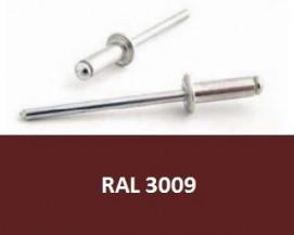 Barevné trhací nýty RAL 3009 Hliník/Ocel