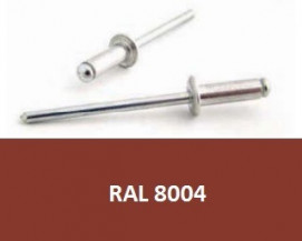 Barevné trhací nýty RAL 8004 Hliník/Ocel