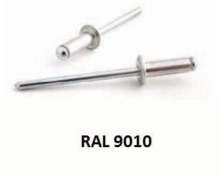 Barevné trhací nýty RAL 9010 Hliník/Ocel