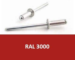 Barevné trhací nýty RAL 3000 Hliník/Ocel