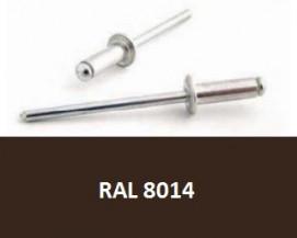 Barevné trhací nýty RAL 8014 Hliník/Ocel