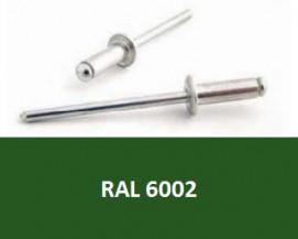 Barevné trhací nýty RAL 6002 Hliník/Ocel