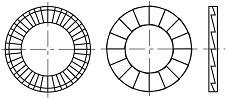 Zajišťovací podložky pro šestihranné hlavy NORD LOCK SP Ocel Delta protekt