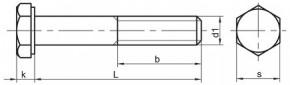 Pevnostní šrouby se šestihrannou hlavou DIN 931 Ocel 10.9 Bez povrchové úpravy