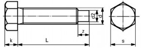 Odtlačovací šrouby DIN 561B Ocel 8.8 Bez povrchové úpravy