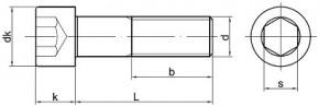 Pevnostní imbusové šrouby s jemným závitem DIN 912 Ocel 12.9 Bez povrchové úpravy