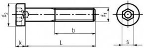 Imbusové šrouby s nízkou hlavou DIN 6912 Ocel 8.8 Bez povrchové úpravy