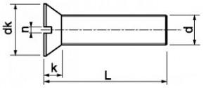 Šrouby se zápustnou hlavou DIN 963 Ocel Bez povrchové úpravy