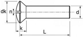 Šrouby s čočkovou hlavou DIN 964 Mosaz