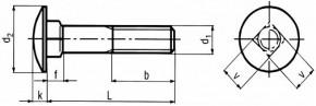 Vratové šrouby DIN 603 Ocel Bez povrchové úpravy