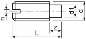 Stavěcí šrouby DIN 417 Ocel Bez povrchové úpravy
