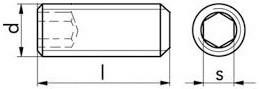 Stavěcí šrouby DIN 913 Ocel Bez povrchové úpravy