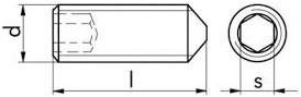Stavěcí šrouby DIN 914 Ocel Bez povrchové úpravy