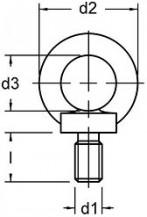 Závěsné šrouby DIN 580 Ocel Bez povrchové úpravy