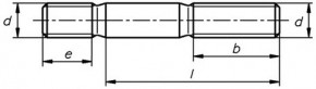 Pevnostní závrtné šrouby DIN 939 Ocel 8.8 Bez povrchové úpravy