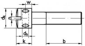 Zajišťovací šrouby s otvory v hlavě DIN 404 Ocel 5.8 Zinek bílý