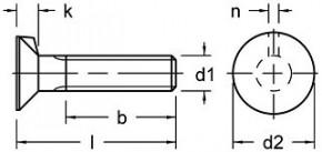 Zápustné šrouby s nosem DIN 604 Ocel 4.6 Bez povrchové úpravy