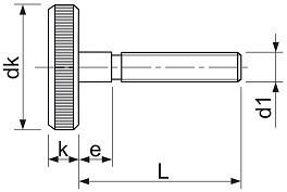 Šrouby s rýhovanou hlavou DIN 653 Ocel Zinek bílý