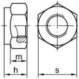 Pevnostní pojistné matice DIN 985 Ocel 10 Zinek bílý
