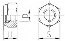 Pojistné matice s jemným závitem DIN 980 Ocel 8 Zinek bílý