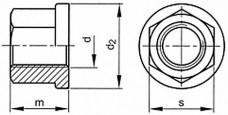 Pevnostní límcové matice DIN 6331 Ocel 10 Bez povrchové úpravy