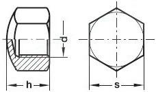 Uzavřené matice DIN 917 Ocel Bez povrchové úpravy