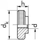 Rýhované matice DIN 467 Ocel Zinek bílý