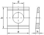 Klínové podložky pro U profily DIN 434 Ocel Bez povrchové úpravy