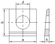 Klínové podložky pro I profily DIN 435 Ocel Žárový zinek