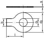 Pojistné podložky s jazýčkem DIN 93 Ocel Bez povrchové úpravy