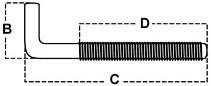 Skoby s metrickým závitem Ocel Zinek bílý