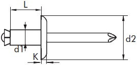 Slupkové trhací nýty Hliník/Ocel