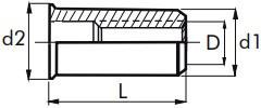 Nýtovací matice hladké, otevřené s redukovanou hlavou Ocel Zinek bílý