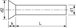 Zápustné rozklepávací nýty DIN 661 Měď